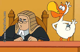 CyberDodo Defends the Right to Speak  in Court  (2-12)