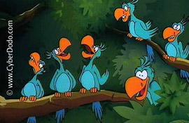 سايبردودو وطيور الببغاء (1-64)